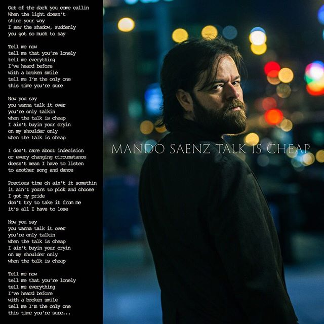 "Mando #5: ""Talk is Cheap"", by @MandoSaenz. This was shot up the street from Nashville's iconic #Exit/in. Got a bit of a Bob Seger vibe to it, unintentional but works for me. This is a killer song about the cruelty of not fully letting go of someone who's trying to get over you. Been on both sides of that one. #carnivalmusic @natgeocreative #nashvillesongwriters  Out of the dark you come callin When the light doesn't  shine your way I saw the shadow, suddenly you got so much to say  Tell me now  tell me that you're lonely tell me everything  I've heard before with a broken smile tell me I'm the only one this time you're sure  Now you say  you wanna talk it over you're only talkin  when the talk is cheap I ain't buyin your cryin  on my shoulder only  when the talk is cheap  I don't care about indecision or every changing circumstance doesn't mean I have to listen to another song and dance  Precious time oh ain't it somethin  it ain't yours to pick and choose I got my pride  don't try to take it from me it's all I have to lose  Now you say  you wanna talk it over you're only talkin  when the talk is cheap I ain't buyin your cryin  on my shoulder only  when the talk is cheap"