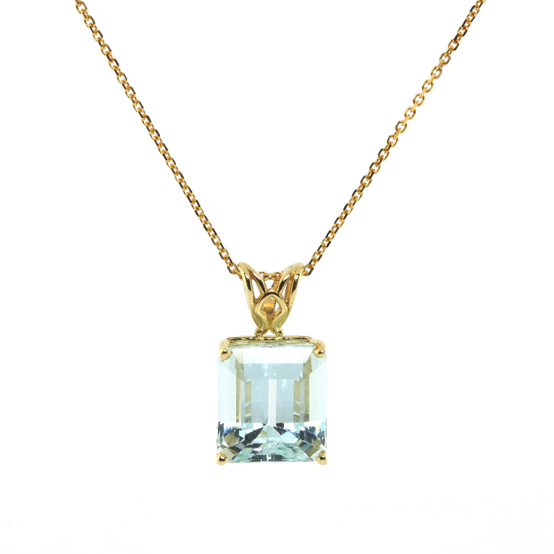 JEWELRY EXCHANGE CO. | SAN FRANCISCO: GOLD & AQUAMARINE PENDANT