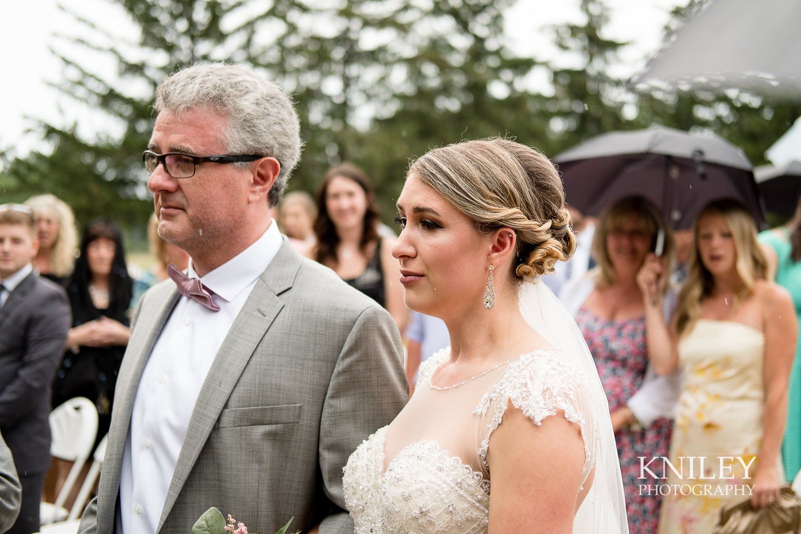 Ontario Golf Club wedding picture - Bride walking down the aisle,jpg