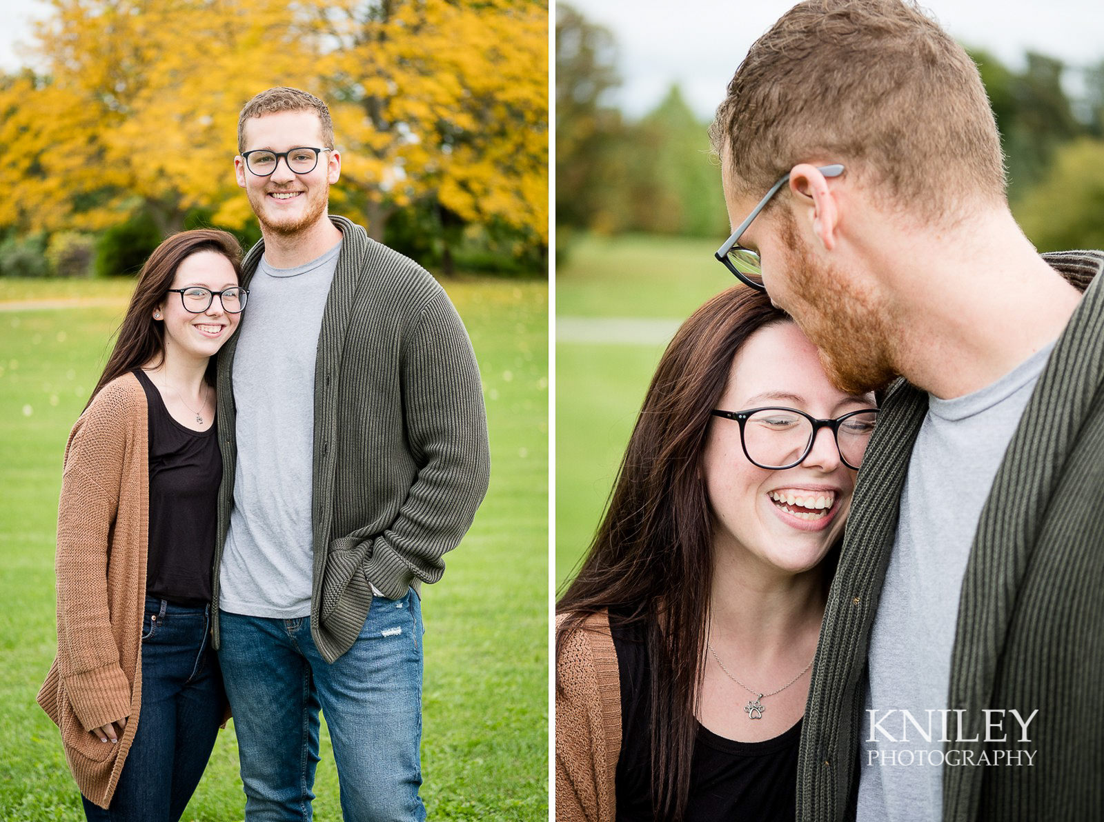 Highland Park Fall Engagement Session - Rochester NY - collage 1.jpg