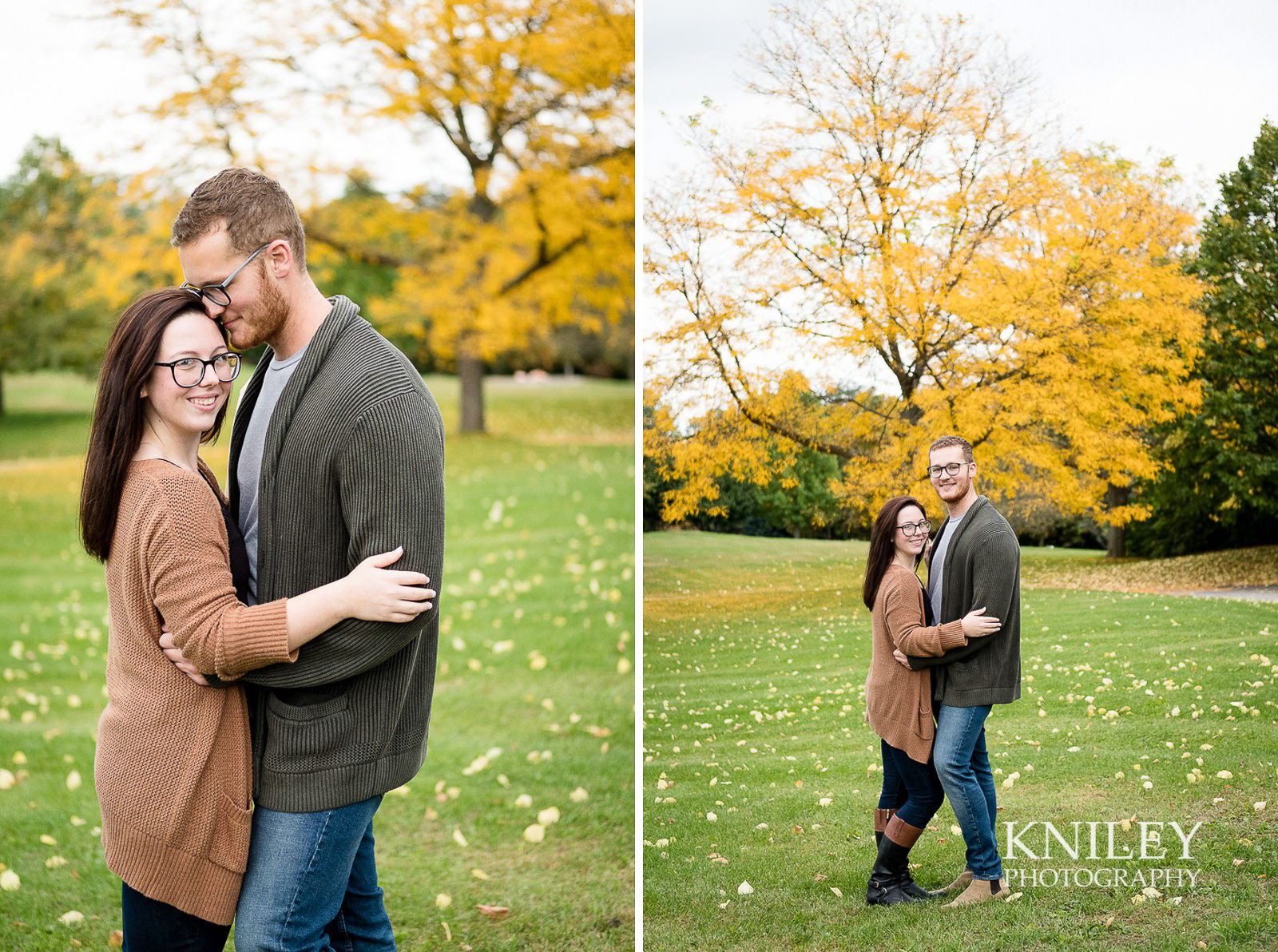 Highland Park Fall Engagement Session - Rochester NY - collage 2.jpg