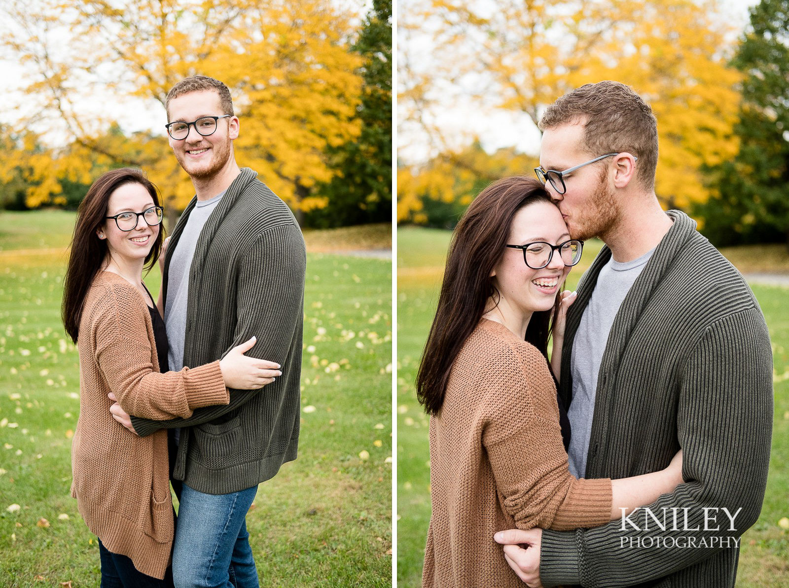 Highland Park Fall Engagement Session - Rochester NY - collage 8.jpg