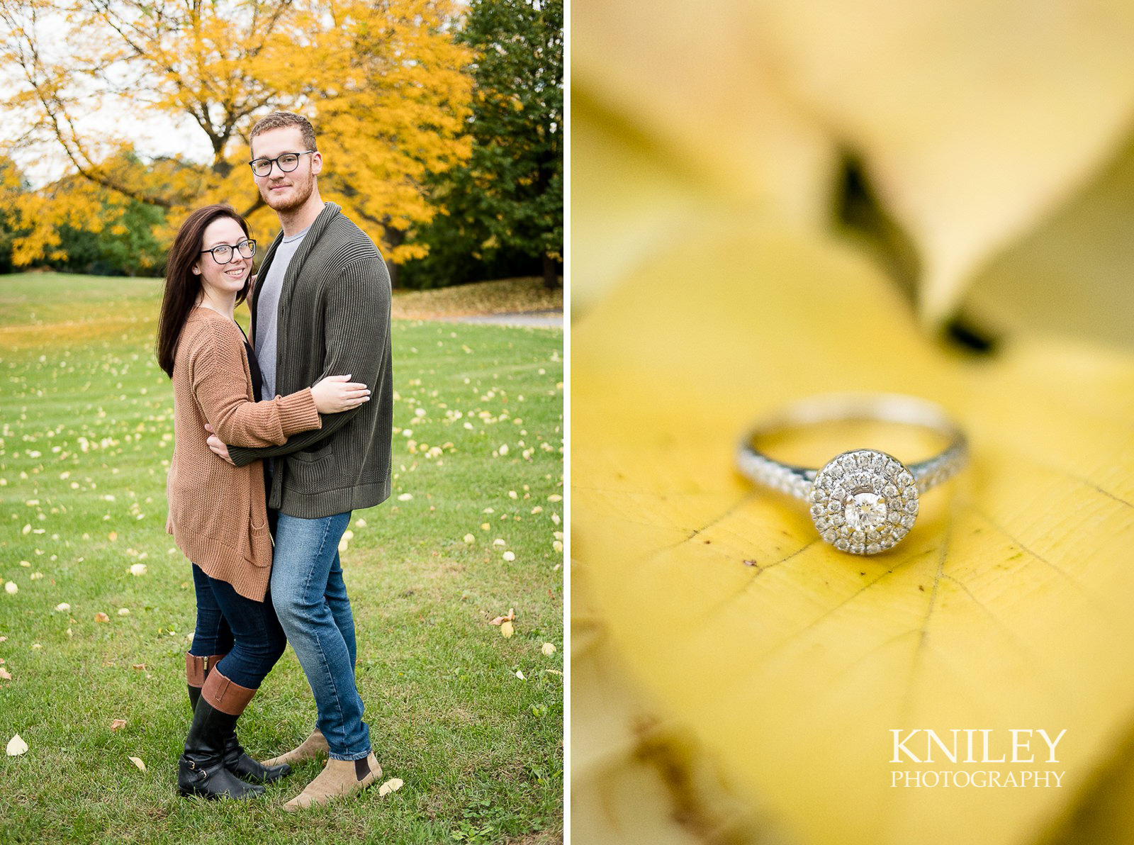 Highland Park Fall Engagement Session - Rochester NY - collage 10.jpg