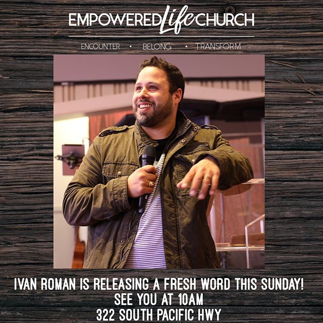 We hope for you to join us this Sunday! Service starts at 10 am! 322 South Pacific Hwy in Talent! #elctalent#ivanromaninthehouse#freshword#joinus