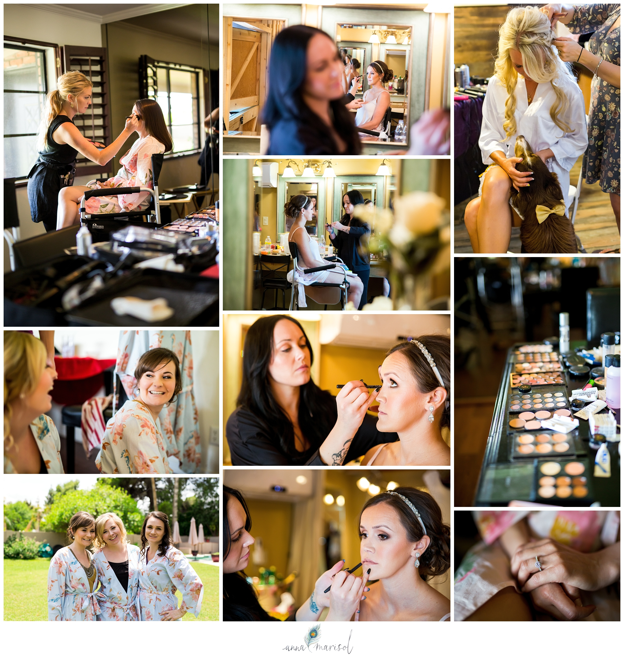 Bride tips getting ready for wedding day