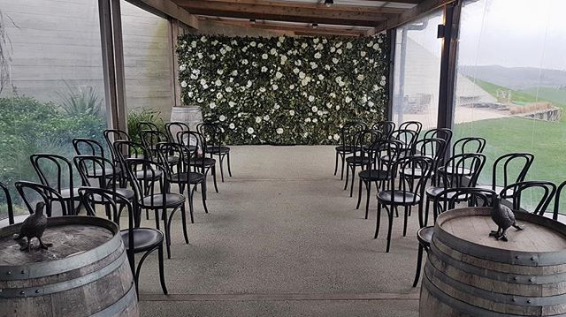 Intimate and elegant today at Kauri Bay 🌿 #boutiquebackdrops #aucklandflowerwall #aucklandflowerwallhire #aucklandweddings #aucklandweddingvenue #flowerwallauckland