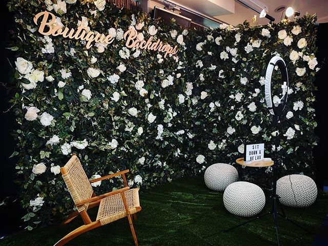 Today we're all set up @nzbrideandgroomshow! Pop along to our little garden corner on the Ground Floor 🌿 sit down, relax, maybe take a selfie 🤳 - #nzbrideandgroom #nzweddings #aucklandweddings #aucklandflowerwall #flowerwallnz #boutiquebackdrops #nzbrideandgroomshow