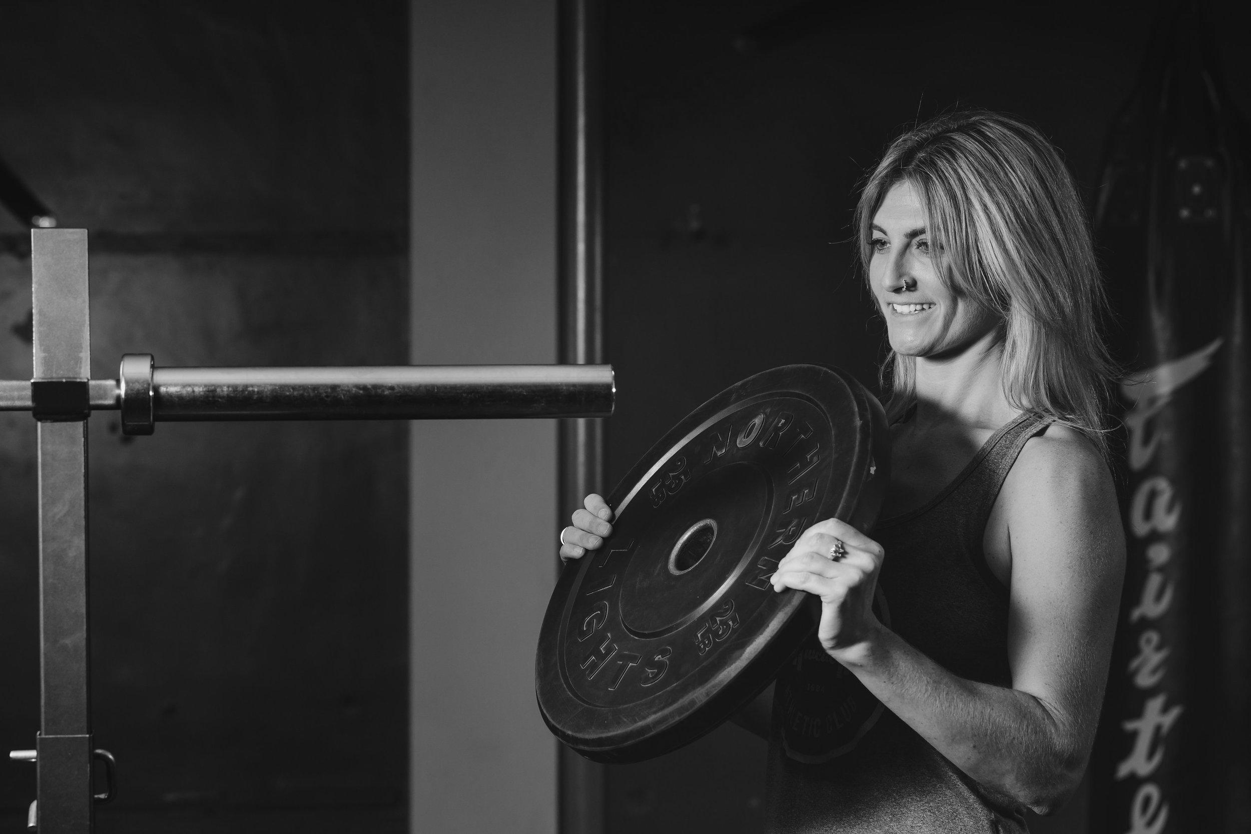 studio bumper plate weights Hannah Edleston