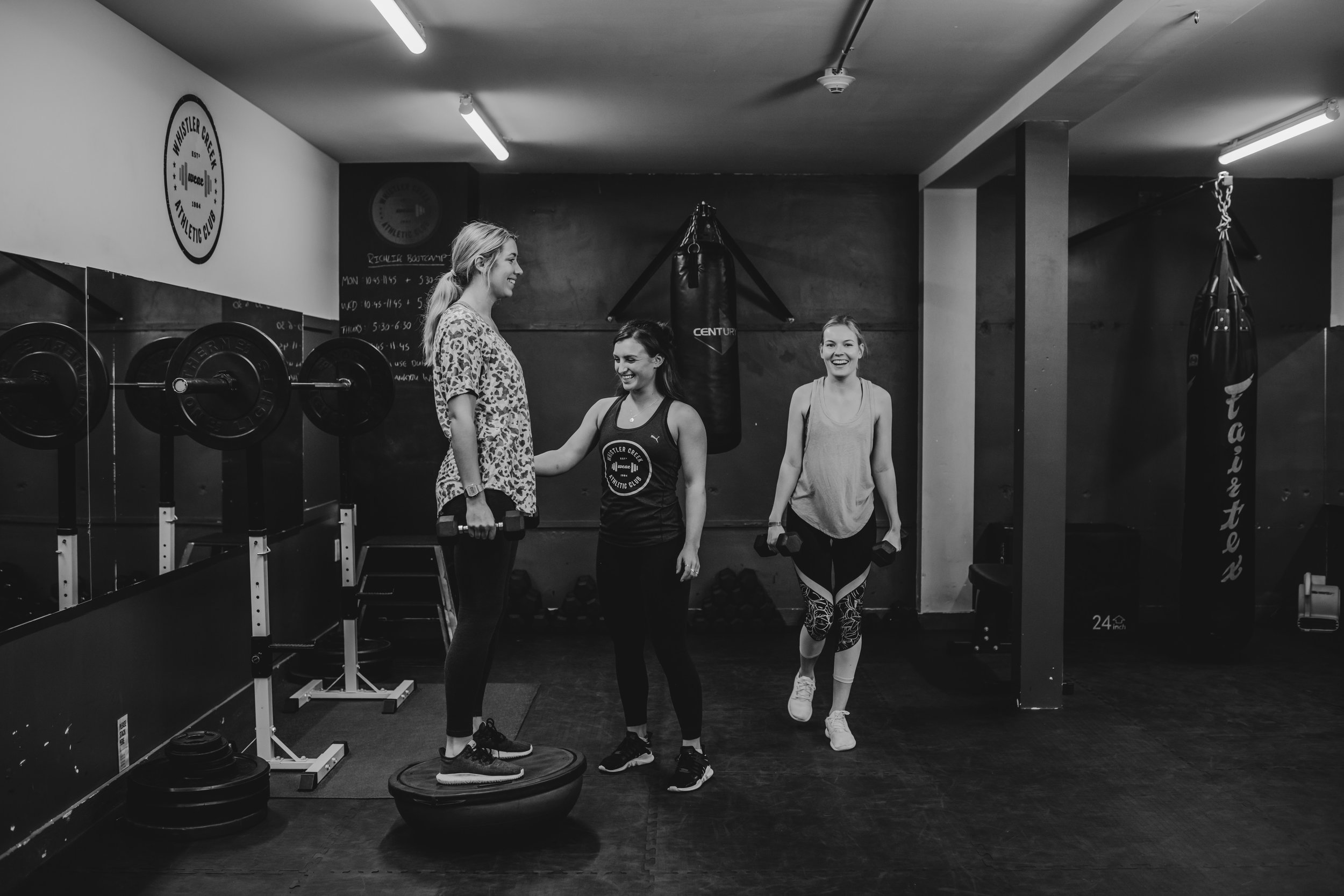 Small group personal training whistler gym