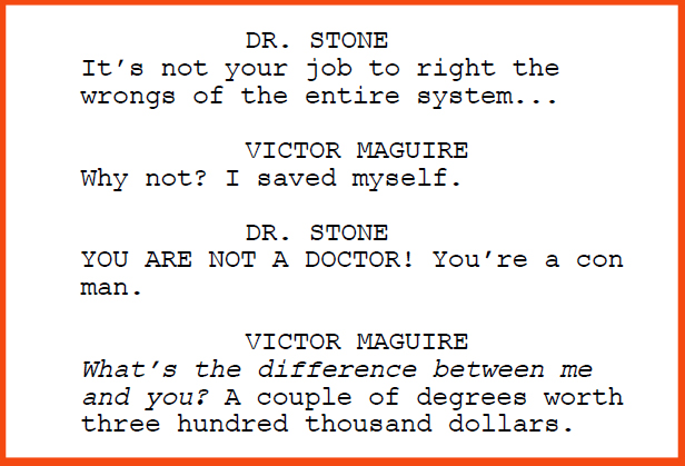 "Excerpt from the teleplay ""Alternative Medicine"""