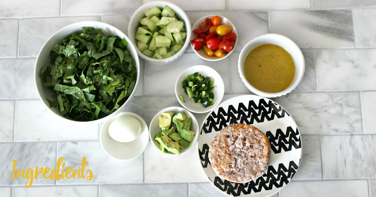In a large bowl, put in lettuce, cucumber, cherry tomatoes and jalapenos,