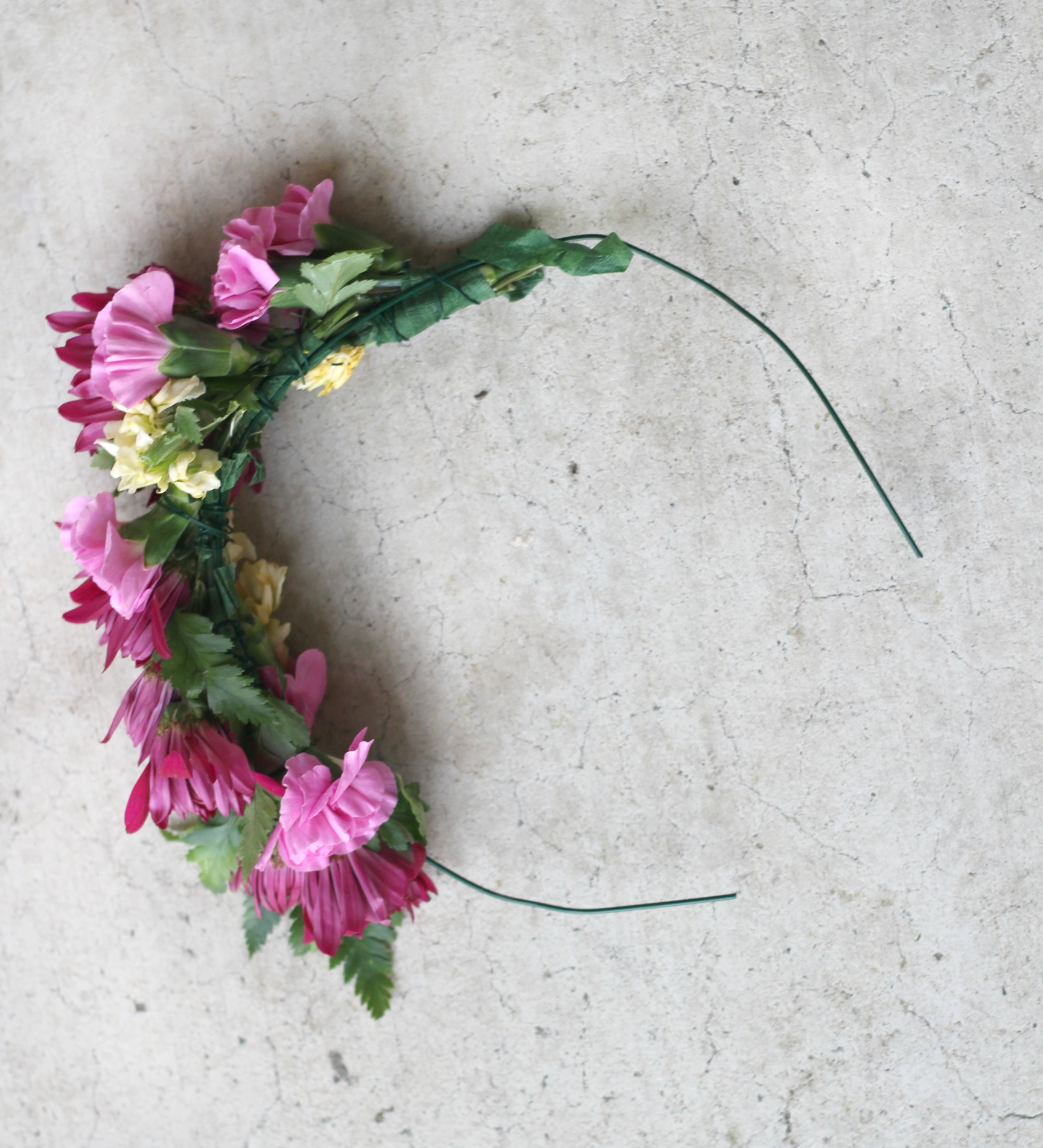 I made my own flower crown from this    tutorial    I saw on Pinterest. I got all my supplies from Michael's and fresh carnations from my local grocery store. It seemed pretty easy but next time I won't get the thick wire because it wasn't as easy to hide the pointy ends. However, I'll be making myself this crown a lot more in the future, loved it.