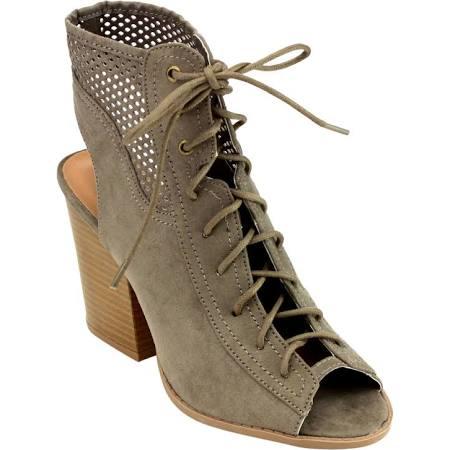 faux suede sandal boots