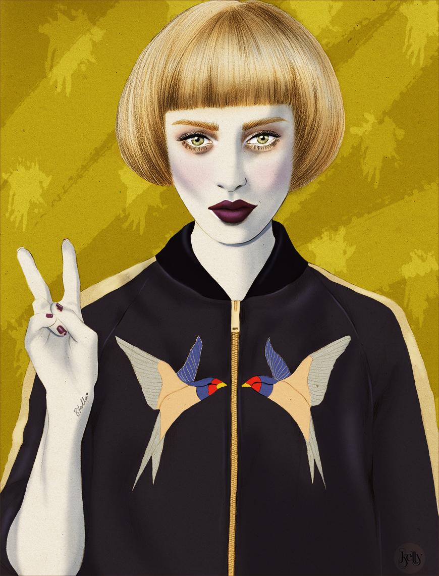 Kelly_thompson_fashion_beauty_illustration_illustrator_swallow_art_blog_stella_McCartney_Lorinda_bird_satin_bomber_matches_fashions.jpg