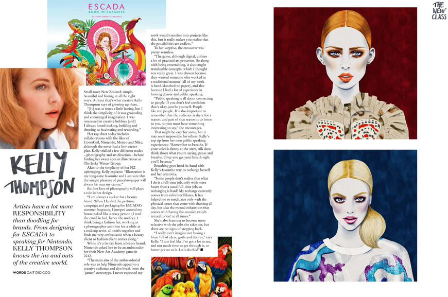 Kelly Thompson illustration blog Collective Magazine