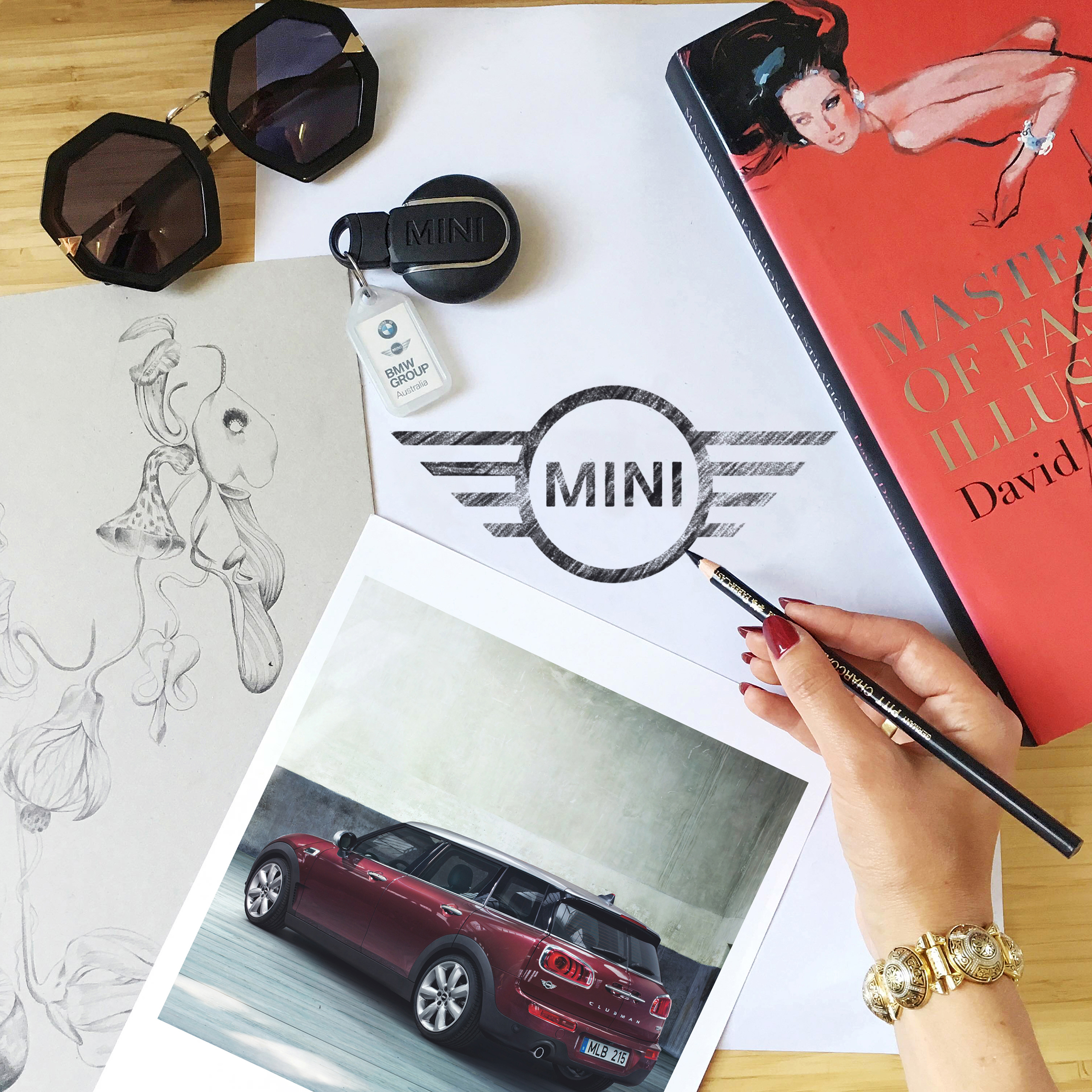 Kelly Thompson illustration blog Melbourne Mini Clubman