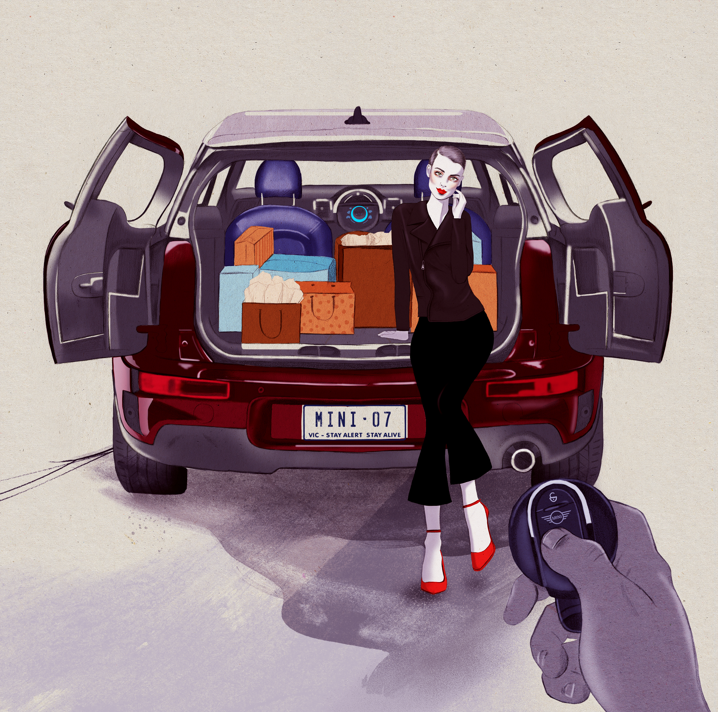 Kelly Thompson illustration blog Mini Clubman Melbourne