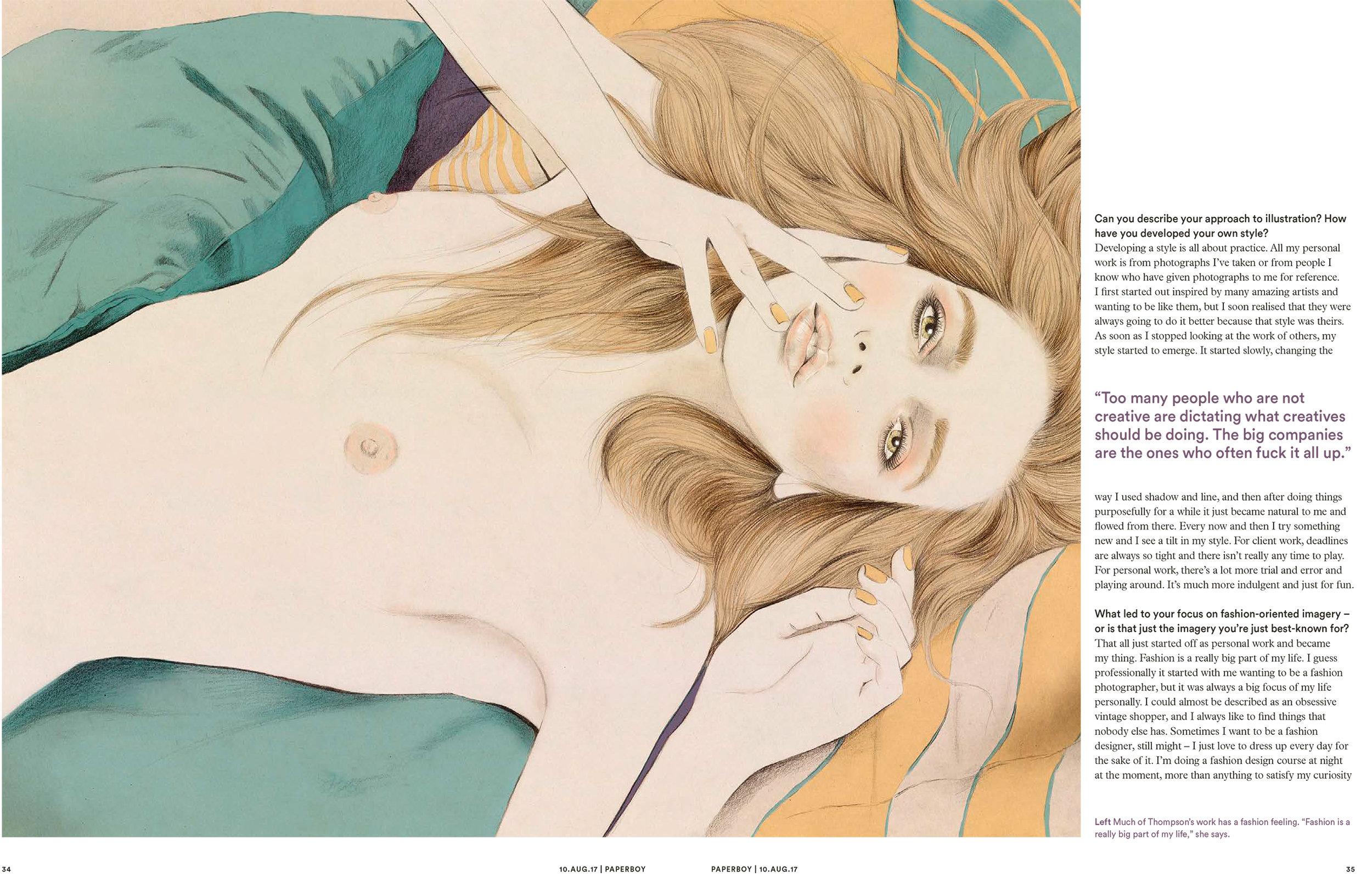 Kelly Thompson Paperboy Magazine