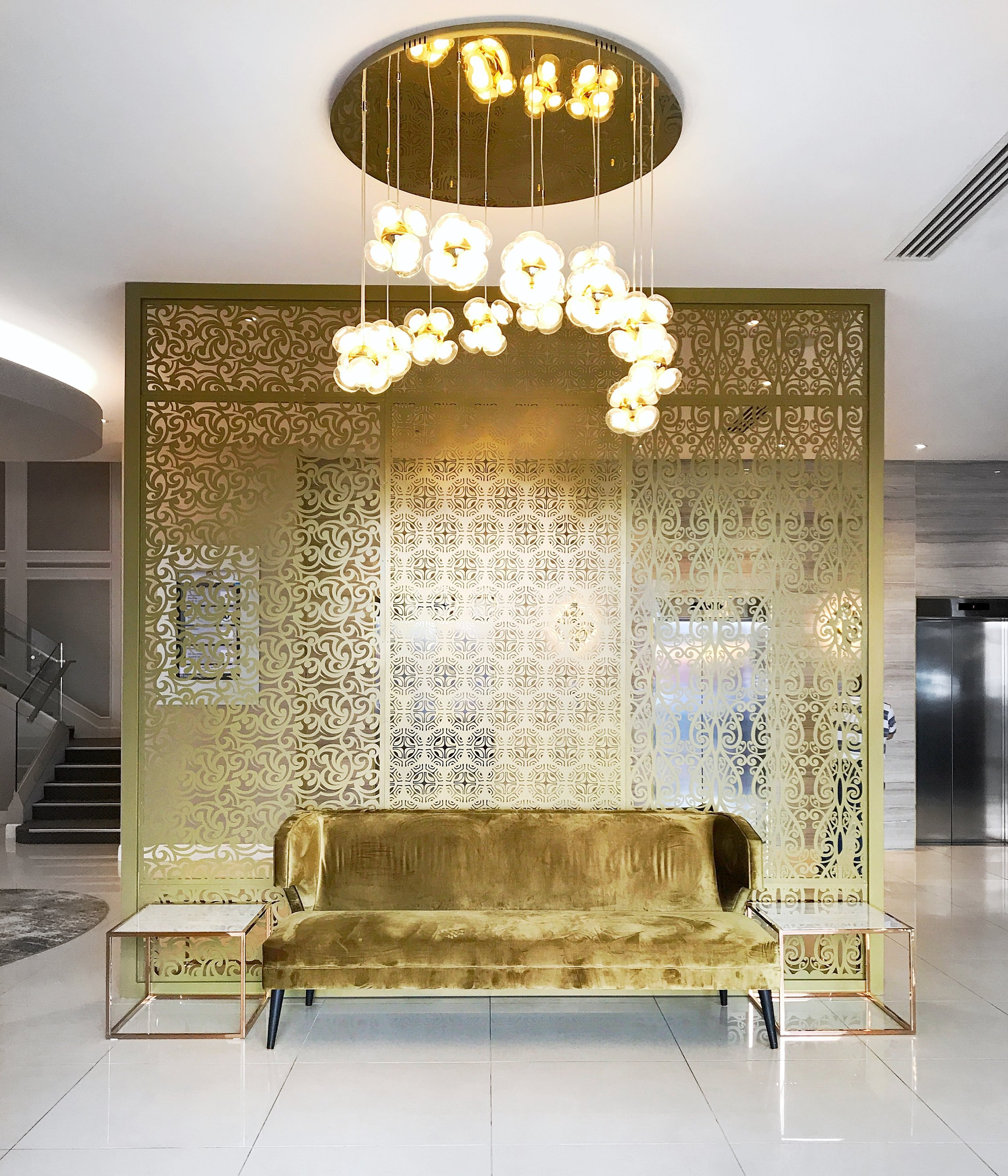 The foyer of the Grand Mecure Hotel