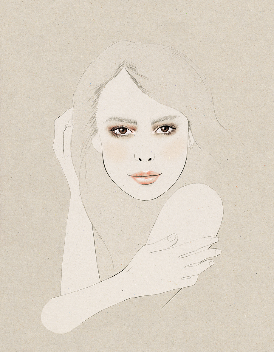 Kelly Thompson beauty Illustration for Clinicalase www.kellythompsoncreative.com