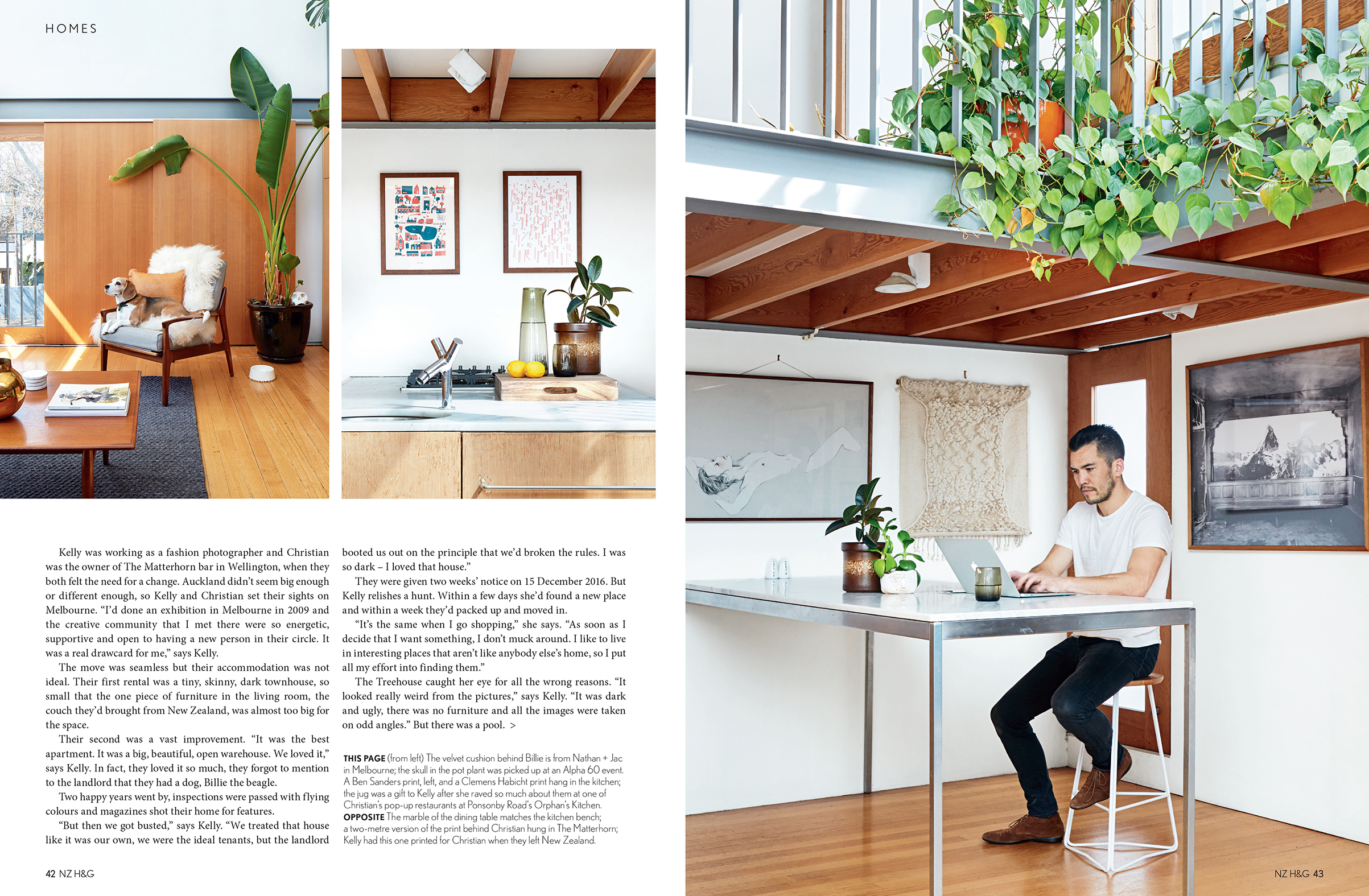 Kelly Thompson's home featured in NZ House and Garden Magazine www.kellythompsoncreative.com