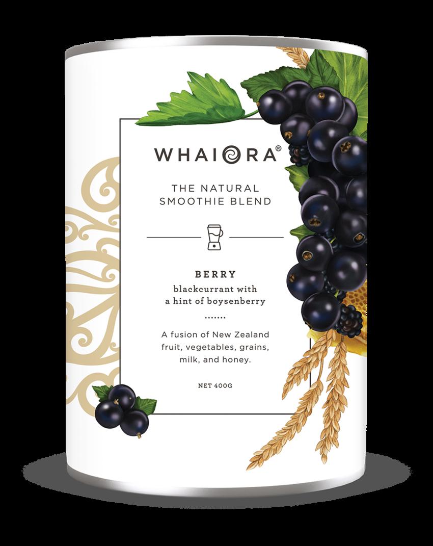 Kelly Thompson Whaiora Smoothie packaging