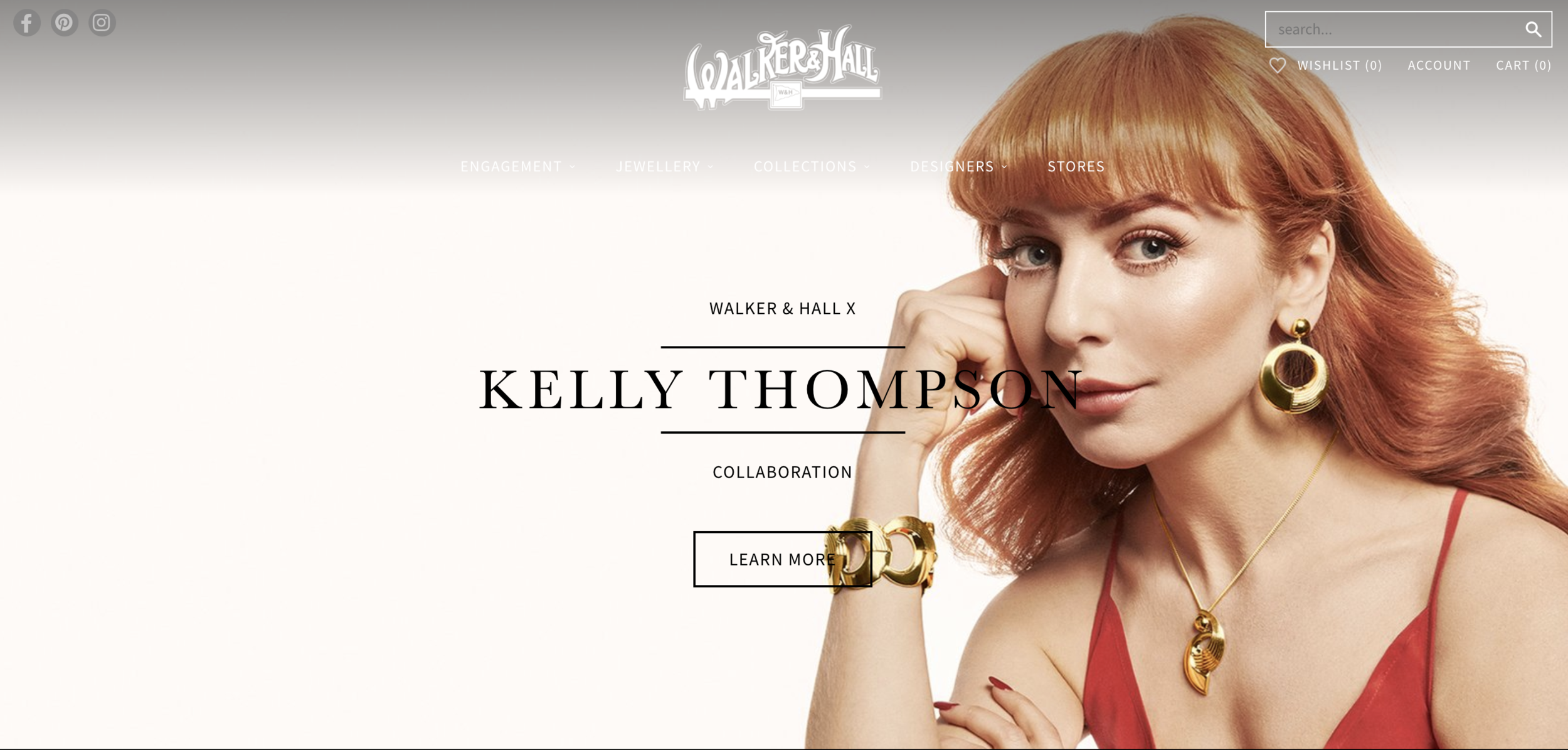 Walker & Hall Kelly Thompson #70 jewellery collection