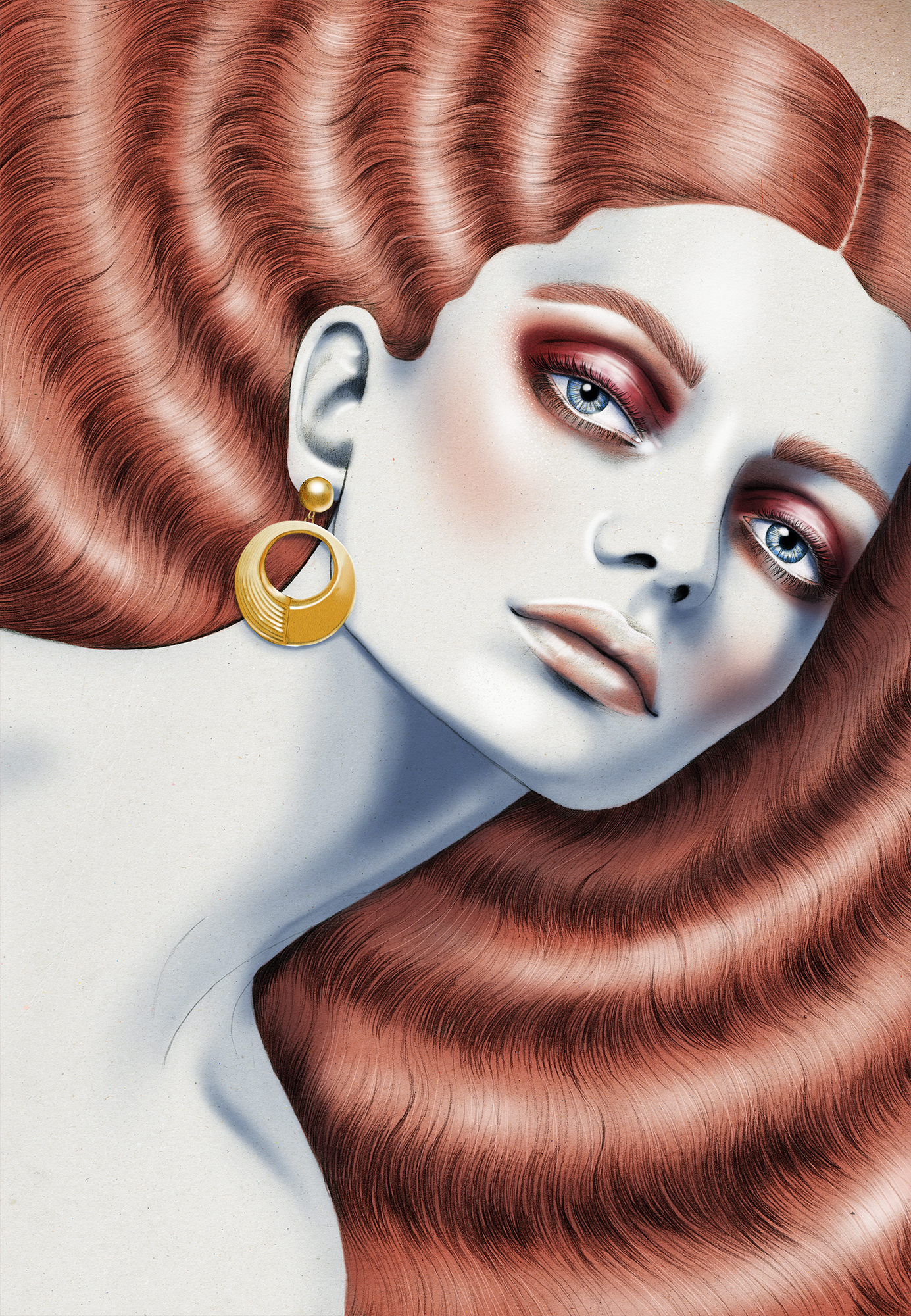 Kelly Thompson Walker and Hall jewellery campaign illustrations