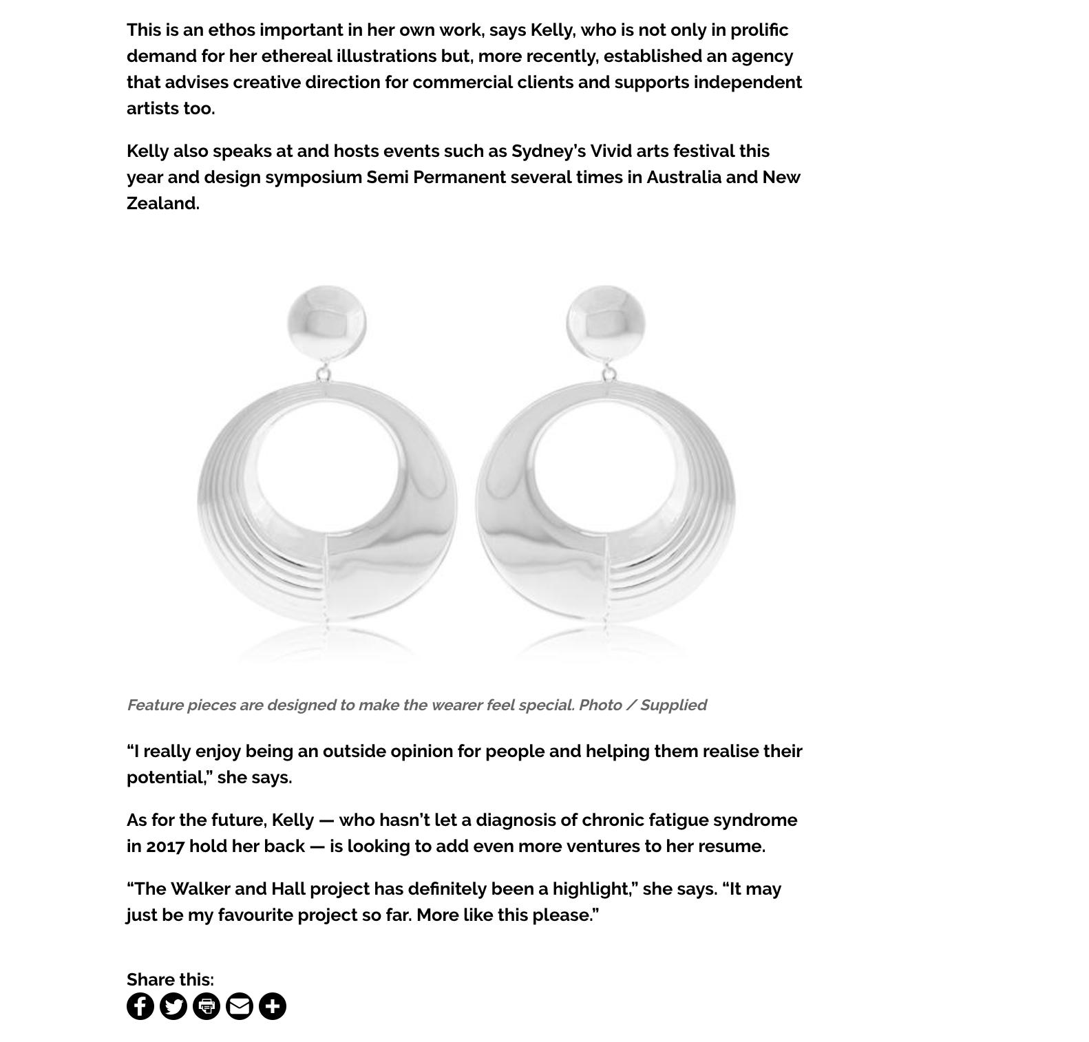 Kelly Thompson Walker & Hall jewellery VIVA Magazine
