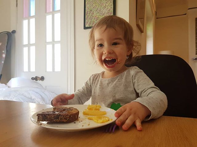 When you're half way through your vegemite toast and get the news you're TWO YEARS OLD TODAY 🙌