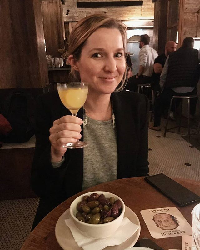 """This is 35. 🙌 Cheers to me, mocktail in hand celebrating officially earning the label of """"geriatric"""" pregnancy, a label designed to make most women feel old AF but I'm feeling quite chuffed. 😊 I now get the letters AMA on my hospital notes, Advanced Maternal Age. I've always wanted to be advanced at something! So, today I'm hurling my advanced body out of bed to clean the house before my brother gets here, using my advanced brain to negotiate with a toddler to wear pants and generally advancing my way towards cake and ice cream for the rest of the weekend. Happy birthday to me 🎈🎈 #justcallmegerri"""