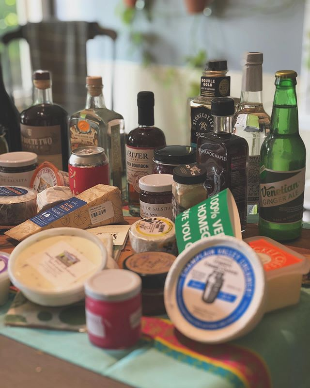 Half the bounty from #vermontcheesemakersfestival 2019 ✨🙌