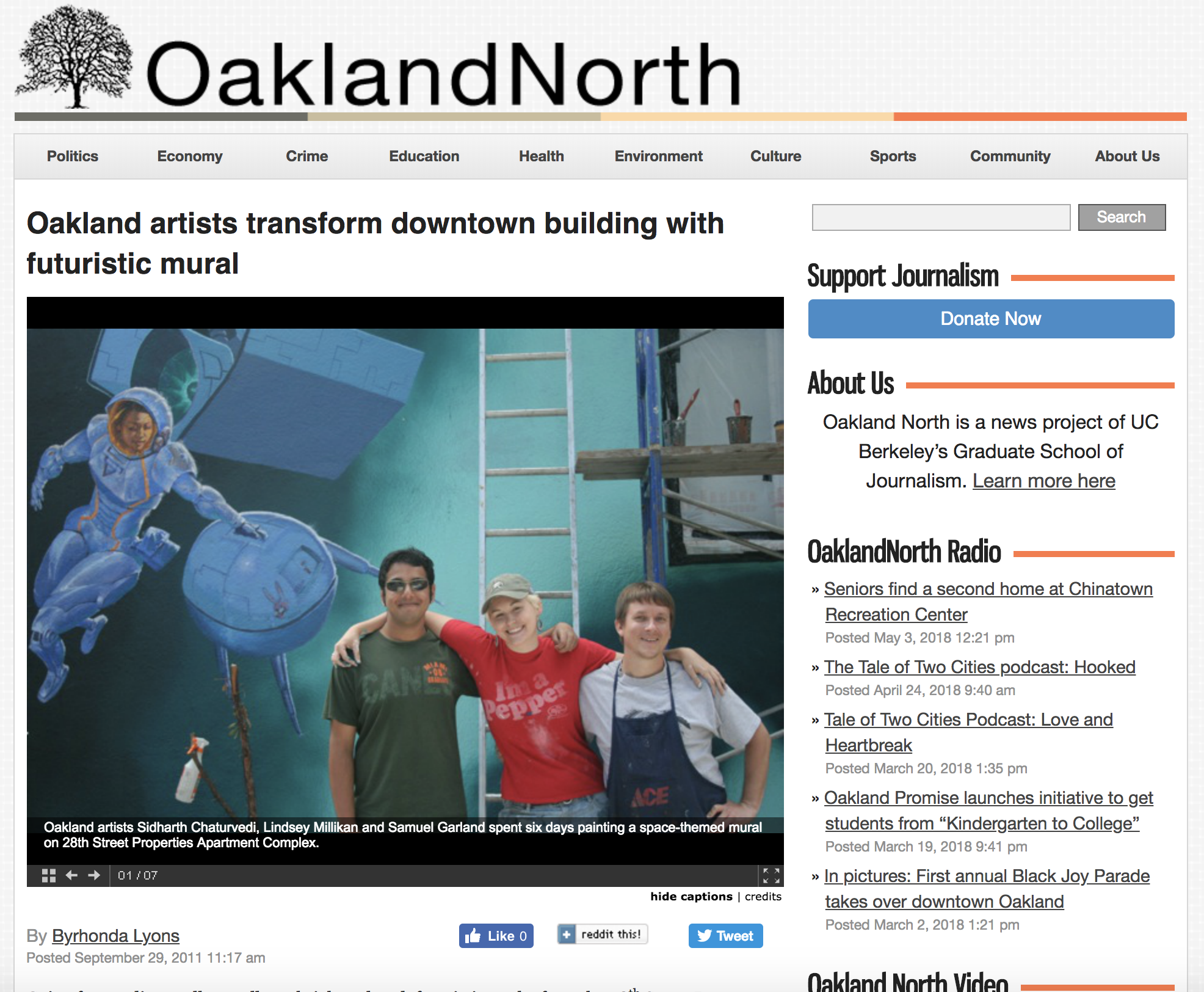 """An interview with OaklandNorth - """"Lindsey and her crew really worked hard and are passionate about what they do,"""" Toppano said. """"I think we're going to go ahead and do the rest of the building, and make it one big show piece."""""""