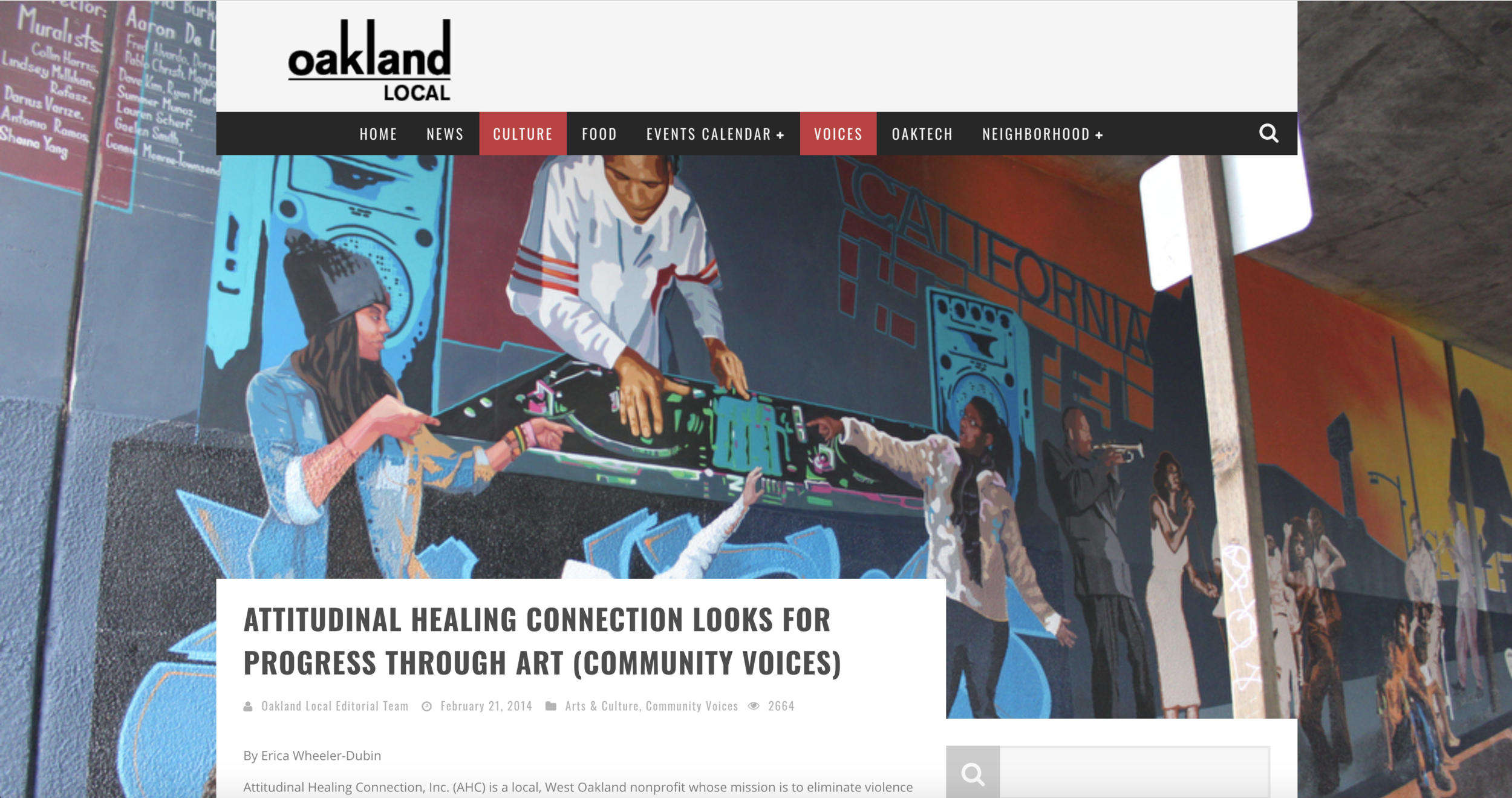 Oakland Local Op-Ed - The Oakland Super Heroes Mural Project (OSH) is a crucial community development effort that will engage 105 youth as change agents in their community. This project aims to resolve issues that plague our city, create over 30 jobs, enhance our neighborhoods, and reduce blight... These murals will serve as a gateway to West and Downtown Oakland and The Oakland Super Heroes Mural Project will become a key component of how this community is perceived.