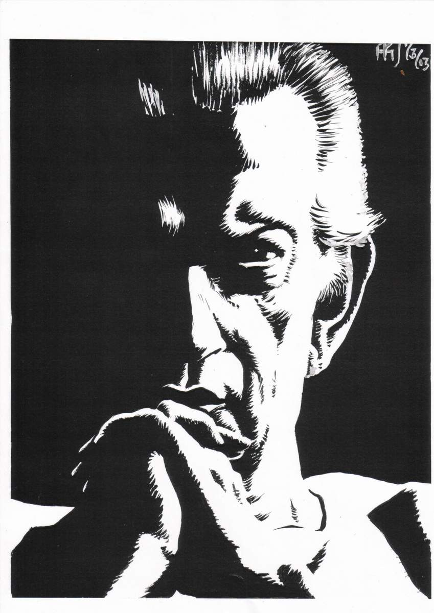 Here's Satyajit Ray plotting the connected Ray-verse, where Feluda meets Professor Shonku...and then discuss socialist themes.