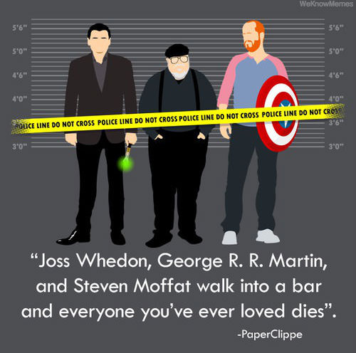Moffat's creation of lovable characters and their consequent demise has surely earned him a reputation