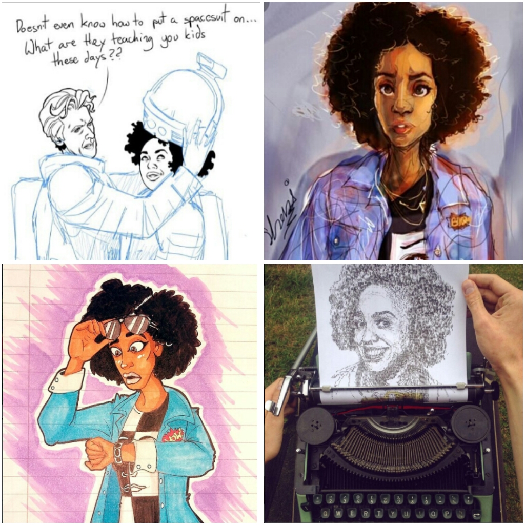 All this fan art months before the series even began. Check out @therealpearlmackie on Instagram for more.