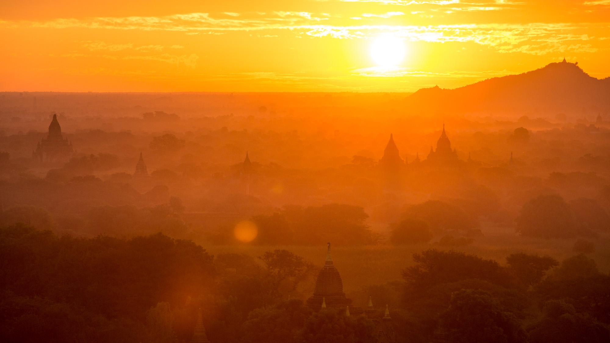 The sunrise from Shwesandaw Pagoda was mesmerising.