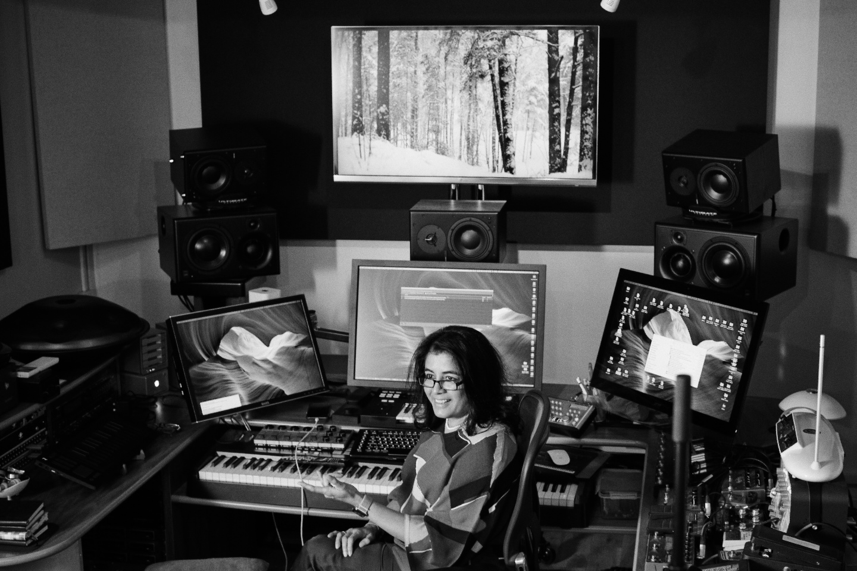 Nainita Desai during a recording session.