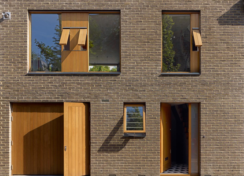 Front facade of Holland Park mews house, design project for Jill Scholes Interior Design