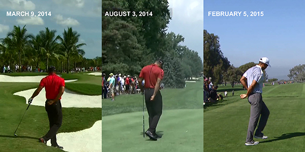 Tiger Woods who has struggled with knee and back pain in his career