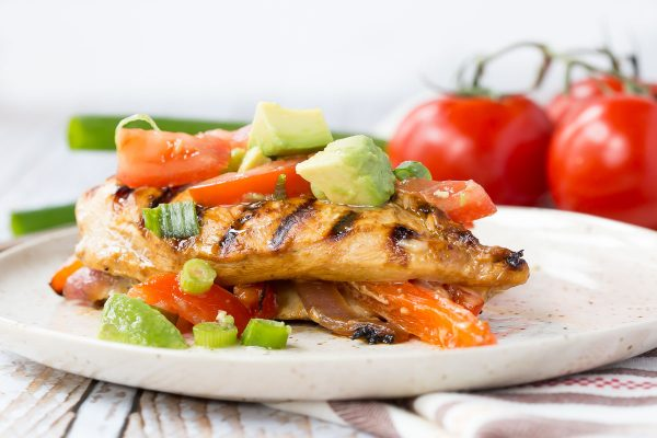 Photo from : Rachel Cooks - Grilled Chicken dish with Peppers and Onions