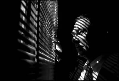 百叶窗是黑色电影中常见场景