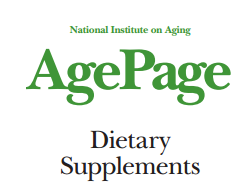 National Institute on Aging: Dietary Supplements