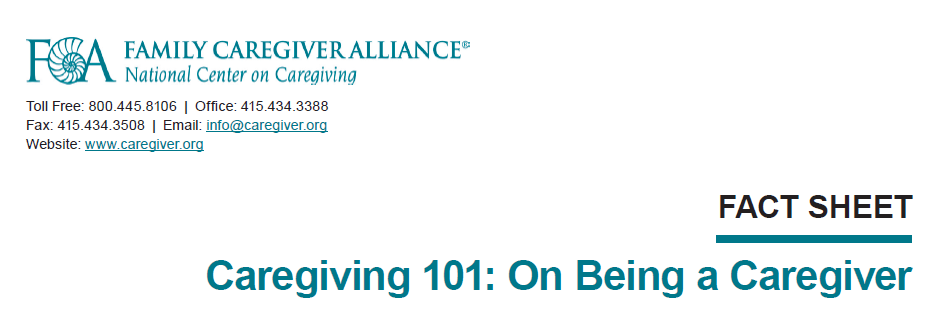 Caregiving 101: On Being a Caregiver