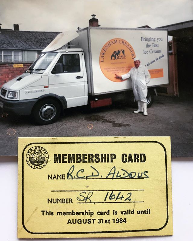 We've found a @icecreamuk membership card with the expiry date of 1984. Also, look at our old van !!!! 😱 A throwback to the past.  #lakenhamcreamery #aldous #norfolkcounty #icecream #membership #icecreamalliance #history #throwback #old #1984 #norwich #norfolk #happy #memories
