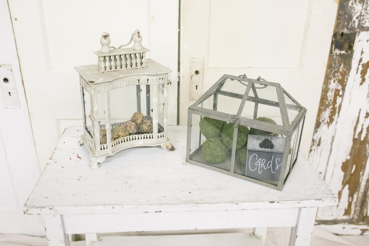 Glass Terrarium and Lantern~Rental $10 each