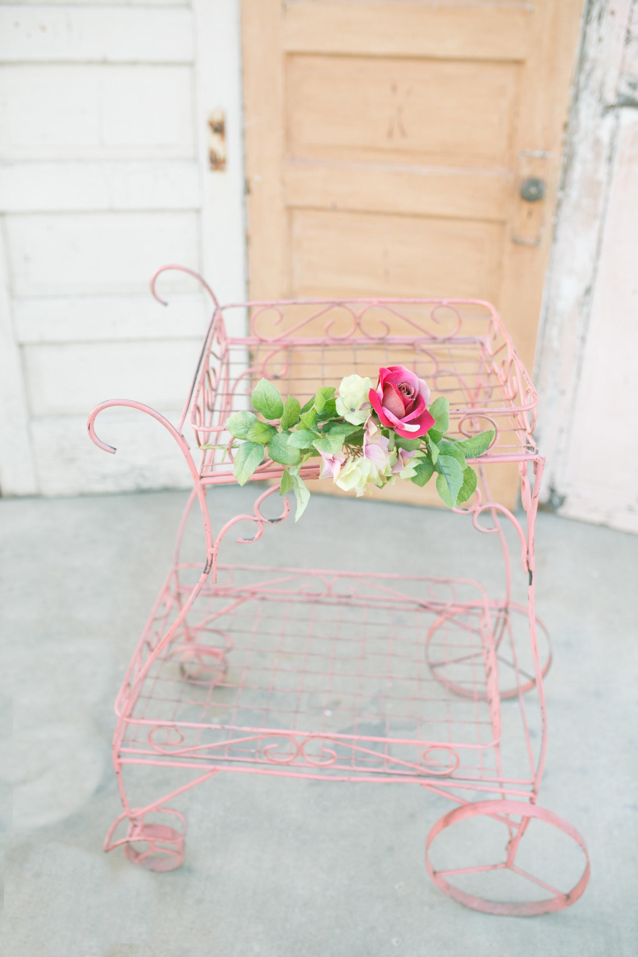 Pink Garden Cart~Rental $30