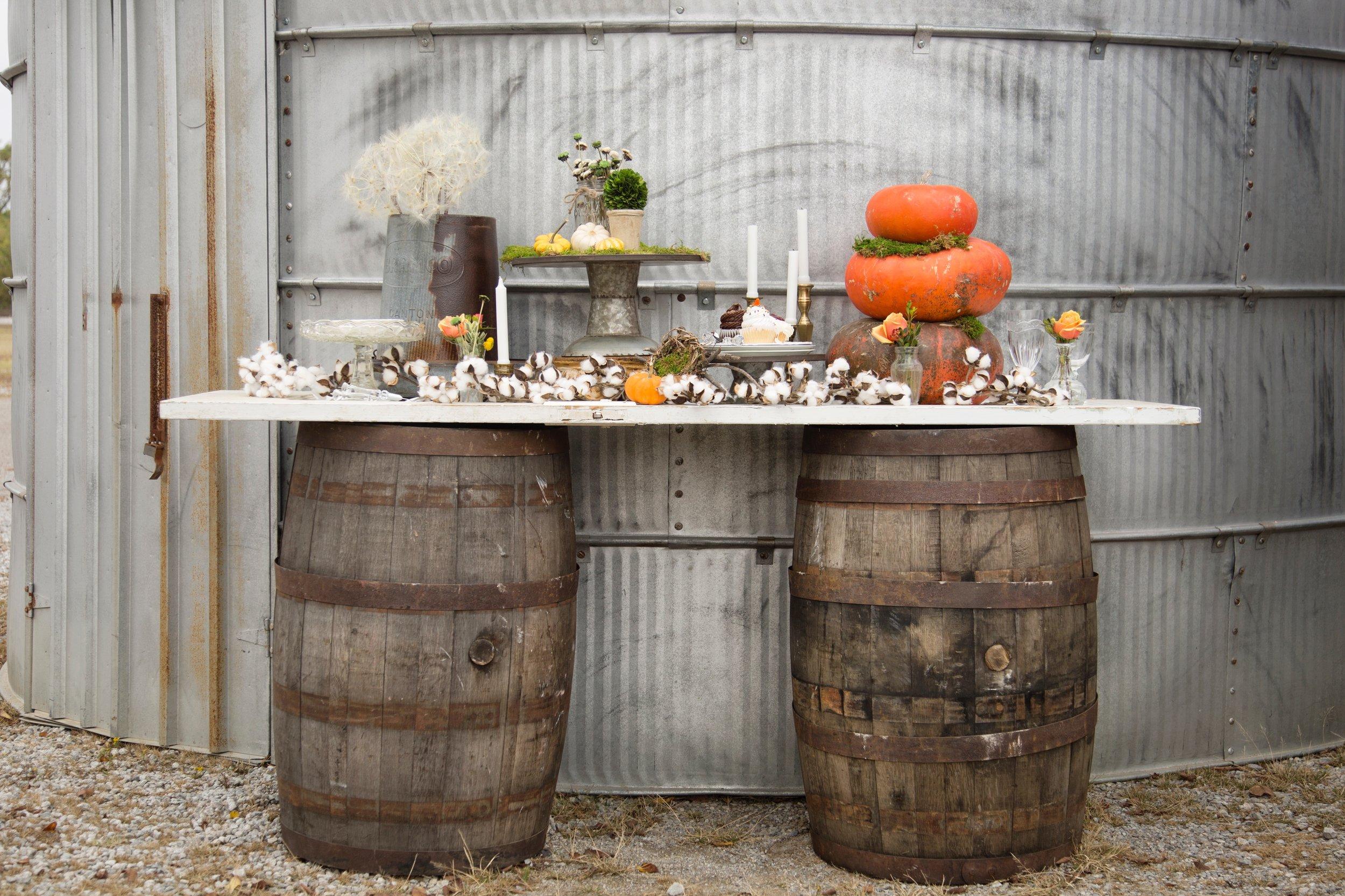 Whiskey Barrels~Rental $45 each