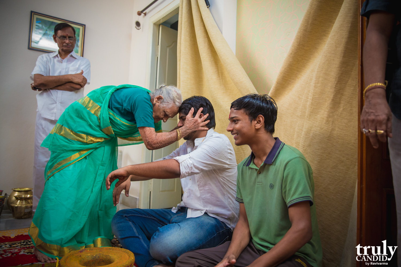 Indian Groom having a Haldi function